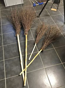 Wood products: besom brooms