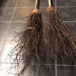 Besom brooms made by PM Chestnut